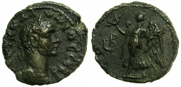 Ancient Coins - EGYPT.ALEXANDRIA.Claudius II Gothicus AD 268- Jan.270.Billon Tetradrachm, struck AD 269/270.~#~Nike flying left.