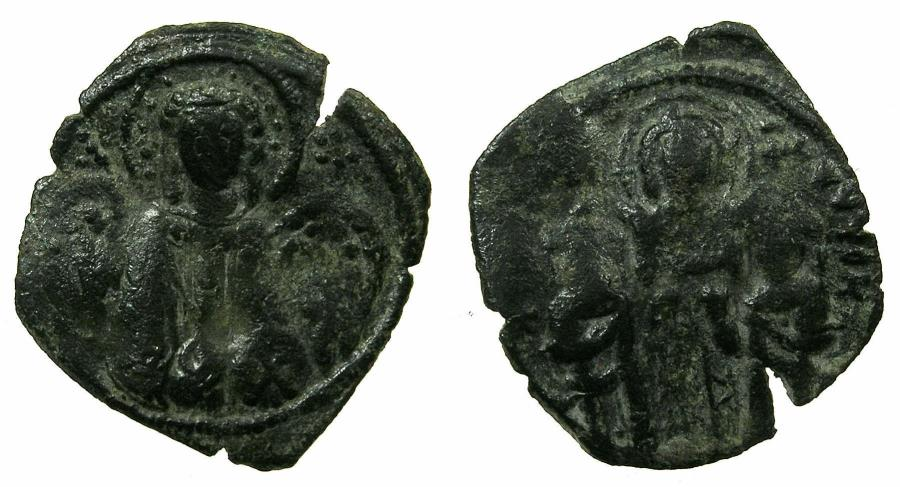 Ancient Coins - BYZANTINE EMPIRE.Andronicus II and Michael IX AD 1294-1320 or later.AE.Assarion.Class X.Mint of Constantinople.