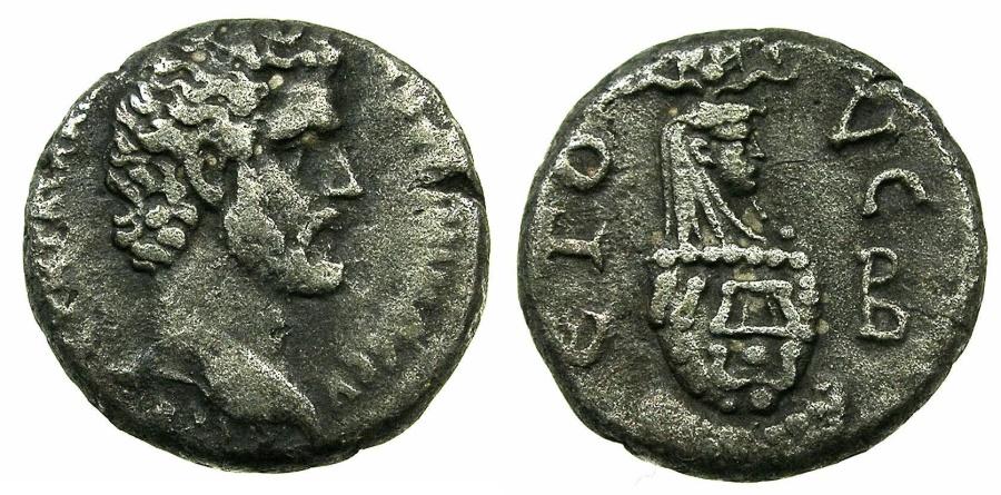 Ancient Coins - EGYPT.ALEXANDRIA.Antoninus Pius AD 138-161.Billon Tetradrachm, struck AD138/39.~#~.Canopus of Osiras.