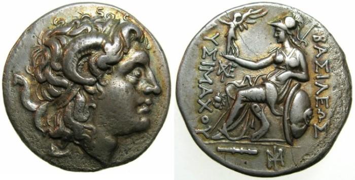 Ancient Coins - THRACE, Kingdom of.Lysimachos 305-281 BC.AR.Tetradrachm, mint of CIUS?