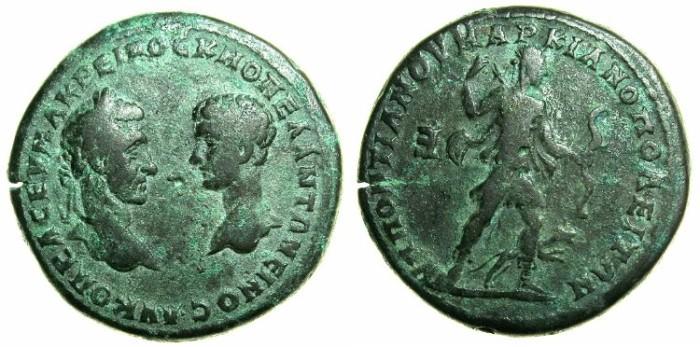 Ancient Coins - MOESIA INFERIOR.MARCIANOPOLIS.Macrinus AD 217-218 and Diadumenian Caesar AD 218