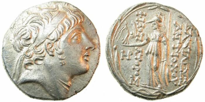 Ancient Coins - SELEUCID EMPIRE.Antiochus IX 114/13-96/95 BC.AR.Tetradrachm.struck 110/09 BC.Ake-Ptolemais mint.