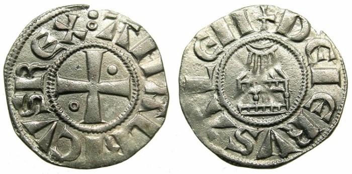Ancient Coins - CRUSADER STATES.JERUSALEM.Amaury AD 1163-1174.Billon Denier.Class 2.