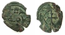 World Coins - CRUSADER STATES.EDESSA.Baldwin II 2nd reign AD 1108-1118.Base billon fraction.