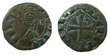 World Coins - CRUSADER STATES.Principality of ANTIOCH.Bohemond III or IV circa 1149-1223.Billon Denier.Class I