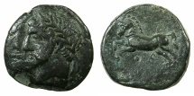 Ancient Coins - NUMIDIA.Massinissa or Micipsa circa 203-148-118 BC.AE.26.2mm.