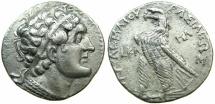 Ancient Coins - PTOLEMAIC EMPIRE.CYPRUS.PAPHOS.Ptolemy VI Philometer 180-145 BC.AR.Tetradrachm.struck 161/0 BC.