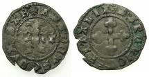 World Coins - ITALY.SAVOY.Amedeo VIII AD as Duke 1416-1440.Quarto de Grossi  1st Type. ****Amedeo as Felix V was the last Anti-pope****