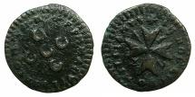 World Coins - MALTA.Emmanuel Pinto 1741-1773.AE.Grano 1747.  var. FMMANVEL for EMMANVEL.