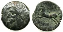 Ancient Coins - NUMIDIA.Massinissa or Micipsa circa 203-148-118 BC.AE.26.7mm.