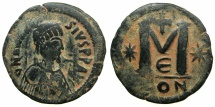 Ancient Coins - BYZANTINE EMPIRE.Anastasius I AD 491-518.AE.Follis.Large module.Mint of CONSTANTINOPLE