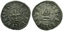 World Coins - CRUSADER.Frankish Greece.Dukes of ATHENS.William I AD 1280-1287 or Guy II AD 1287-1308.Billon Denier.Variety GR 105.