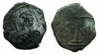 Ancient Coins - BYZANTINE EMPIRE.Alexius I Comnenus AD 1081-1118.AE.Half Tetateron.Mint of THESSALONIKI.