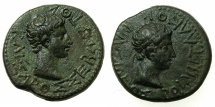 Ancient Coins - THRACE, kingdom. Rhoemetalces circa 11BC-AD 12.AE.17.9mm.~#~.Rhoemetalces .~/~.Augustus.