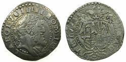 World Coins - ITALY.NAPLES.Charles V AD 1516-1556.AR.Tari ( 2 Carlini ).