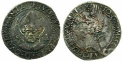 Ancient Coins - ITALY.MILAN.Gian Galeazzo Maria Sforza AD 1480-1490.AR.Grosso da 5 Soldi.~~~Saint Ambrose.
