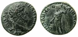 Ancient Coins - PHRYGIA.ANCYRA.Lucius Verus AD 161-169.AE.20.9mm. L.Klo.Demosthenes Archon.Reverse.Zeus holding Anchor.