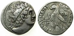 Ancient Coins - GYPT.ALEXANDRIA.Cleopatra III and Ptolemy X 107-101 BC.AR.Tetradrachm. struck 102/01 BC. ***Double dated coin, struck in the final year of joint rule ***