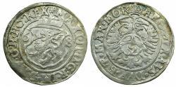 World Coins - AUSTRIA.HAPSBURGS.Maximilian II AD 1564-1576.AR.2 Kreuzer ( 15)68.Prague mint ( CZECH REPUPLIC ).