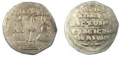 Ancient Coins - BYZANTINE EMPIRE.Nicephorus III AD 1078-1081.AR.Milliaresion.Constantinople mint.