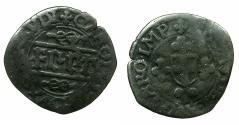 World Coins - ITALY.SAVOY.Carlos II AD 1504-1553.Billon.Quarto.N.D.Type 5.Mint of NIZZA.