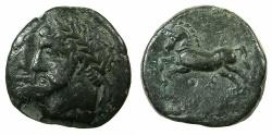 Ancient Coins - NUMIDIA.Massinissa or Micipsa circa 203-148-118 BC.AE.26.2mm.