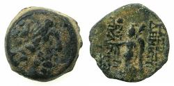 Ancient Coins - SELEUCID EMPIRE.Demetrius II 2nd reign circa 130-125 BC.AE.16.3mm.~#~.Nike.
