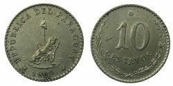 World Coins - PARAGUAY.CN.10 Centimos 1903.
