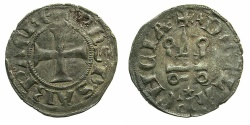 World Coins - CRUSADER GREECE.Principality of Achaia.Philip of Savoy AD 1301-1307.Bi.Denier.Type 3.