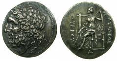 Ancient Coins - EPIRUS.Pyrrhus 297-272.'Electotype' Tetradrachm, after Lokroi Epizephyrioi mint. Bristish Museum Electrotype by Robert Ready.