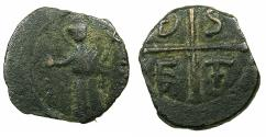 World Coins - CRUSADER STATES.ANTIOCH.Tancred AD 1104-1112.AE.Follis, 3rd Type. Standing figure of Saint Peter.