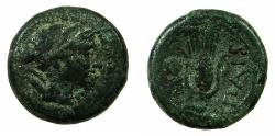 Ancient Coins - LUCANIA.PAESTUM.2nd Punic War 218-201 BC.AE.Uncia
