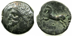 Ancient Coins - NUMIDIA.Massinissa or Micipsa circa 203-148-118 BC.AE.26.7mm.