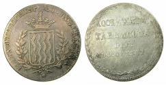 World Coins - SPAIN.Isabell II 1833-1868AR.Proclamation medal 1833.TARRAGONA.