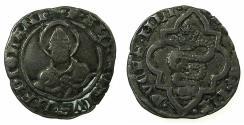 World Coins - ITALY.MILAN.Bianca Maria Visconte and Galeazzo Maria Sforza AD 1466-1468.AR.Soldo. Saint Ambrose