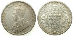 World Coins - INDIA.British Rule.George V 1910-1936.AR.One Rupee 1912 Bombay mint.