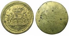 World Coins - ITALY.MILAN?.Late 18th cent AD.Brass weight for Genoa gold 96 Lire.