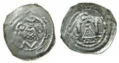 World Coins - AUSTRIA.SALZBERG.Archbishopric.Adalbert III of Bohemia AD 1168-1177 and 1183-1200.AR.Freisach Pfenning.