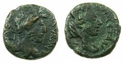 Ancient Coins - MESOPOTAMIA.CARRHAE.Caracalla AD 198-217.AE.18mm. Reverse.Bust of Tyche.
