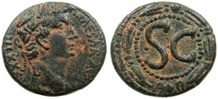 Ancient Coins - SYRIA.SELEUCIS AND PIERIA.ANTIOCH.Tiberius AD 14-37.AE.As?.Struck AD 31/32.