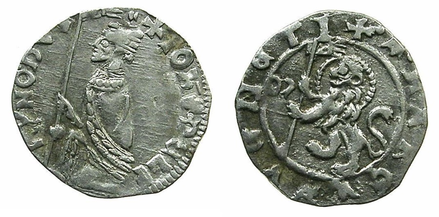 World Coins - VENICE.Giovanni Dolphin AD 1356-1361.AR.Soldino.~~~Sigla M