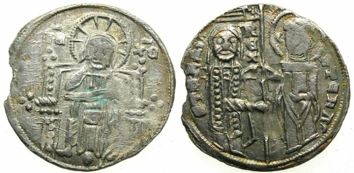 Ancient Coins - SERBIA.Stefan Uros II Milutin 1282-1321.AR.Dinar ( Gross), modeled after issues of VENICE.
