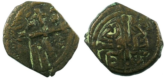 Ancient Coins - CRUSADER.ANTIOCH.Tancred AD 1104-1112.AE.Follis.4th Type. overstrike