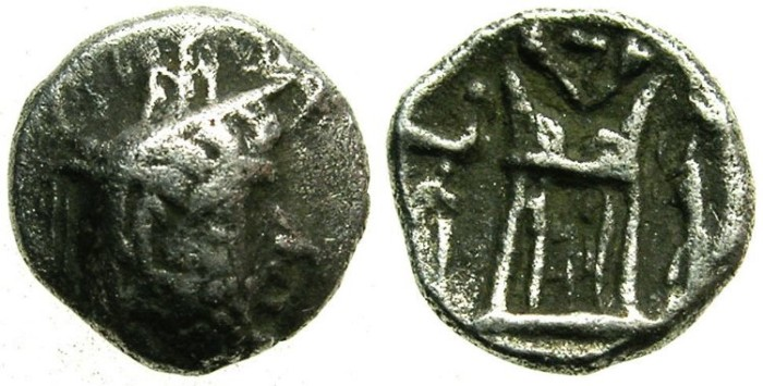 Ancient Coins - PERSIS.Unknown King I.AR.Obol.