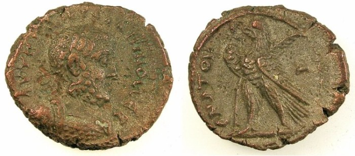 Ancient Coins - EGYPT.ALEXANDRIA.Gallienus AD 253-268.Bi.Tetradrachm.Rev.Eagle left.