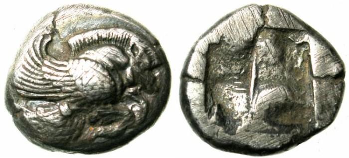 Ancient Coins - IONIA.KLAZOMENAI.Circa 500-494 BC.AR.Didrachm.Flying winged boar.