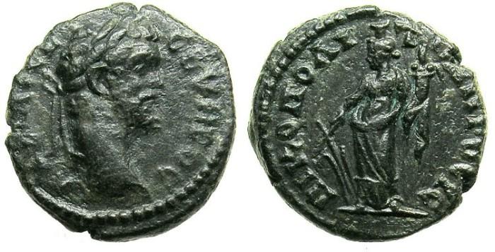 Ancient Coins - MOESIA INFERIOR.NIKOPOLIS AD ISTRUM.Septimius Severus AD 192-211.AE.16.Tyche.