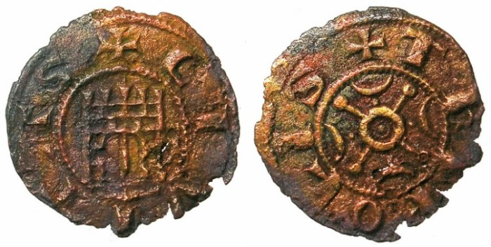 Ancient Coins - CRUSADER.TRIPOLI.Bohemond IV AD 1187-1233.AE.Fraction.Type 3.