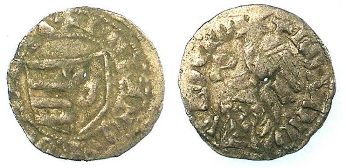 Ancient Coins - ROMANIA.Voivodes of Wallachia.1383-1386.Bi.Denier