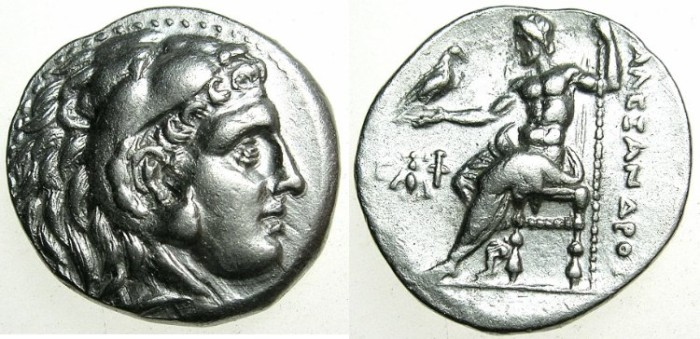 Ancient Coins - MACEDONIAN EMPIRE.Alexander III 336-323 BC.AR.Drachma.Mint of EPHESUS ( Ionia ) .Struck circa 300 BC.